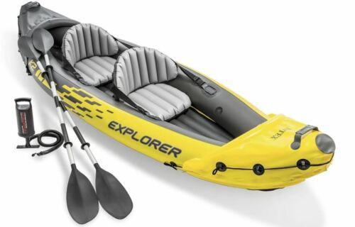 Intex Explorer K2 Kayak 2-Person Inflatable Set w/Oars & Pump FAST FREE SHIPPING
