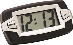 Black Digital Large LCD Display Big Digit Clock Car-RV-Boat Interior Dash Mount