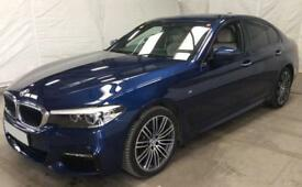 BMW 520D MEDITERRANEAN BLUE 2.0 M SPORT SALOON DIESEL FROM £129 PER WEEK!