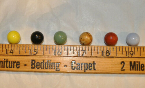Franklin Mint Chinese Checkers - Lot of 6 Original Marbles Gemstones Replacement