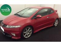 £169.97 PER MONTH RED 2010 HONDA CIVIC 2.0 i-VTEC TYPE-R GT 3 DOOR PETROL MANUAL