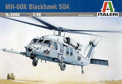 Italeri 1/48 MH-60K Blackhawk SOA Helicopter #2666