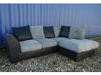 Black+Grey Corner Sofa* Mint Condition*