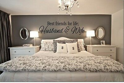 Best Friends For Life Husband   Wife Wall Art Decal Quote Words Lettering Decor
