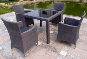 Brand New Maldives 5 Piece Outdoor Dining Setting in Brown Bundall Gold Coast City Preview