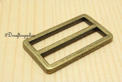 strap adjuster rectangle sliders vintage bronze 38