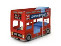 London bus bunkbeds with mattresses