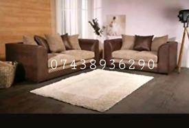 Brand New Jumbo Cord 3+2 Sofa