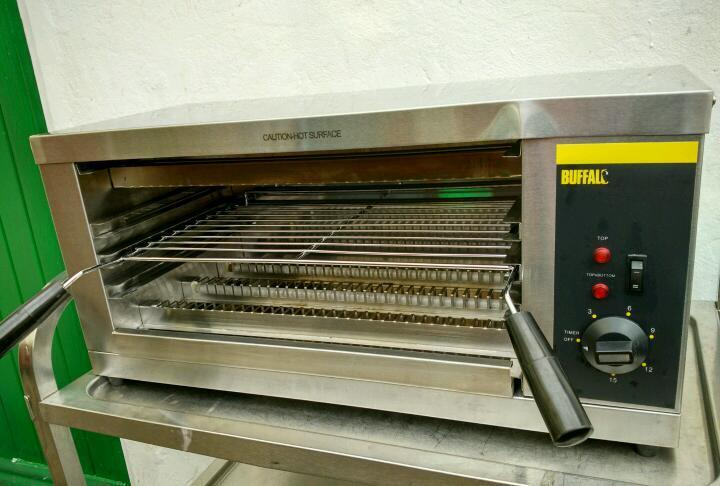 Commercial Buffalo Salamander Electric grill machine catering equipment.