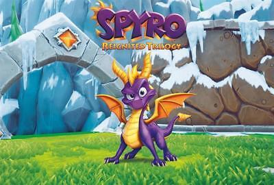 Spyro Reignited Trilogy 2018 Poster Game Dragon Art Print 13X20  24X36  27X40