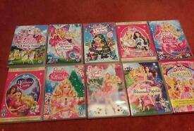 10 Barbie dvds