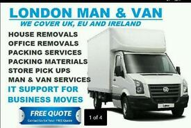 Man and van Removals service house office flat move London Essex