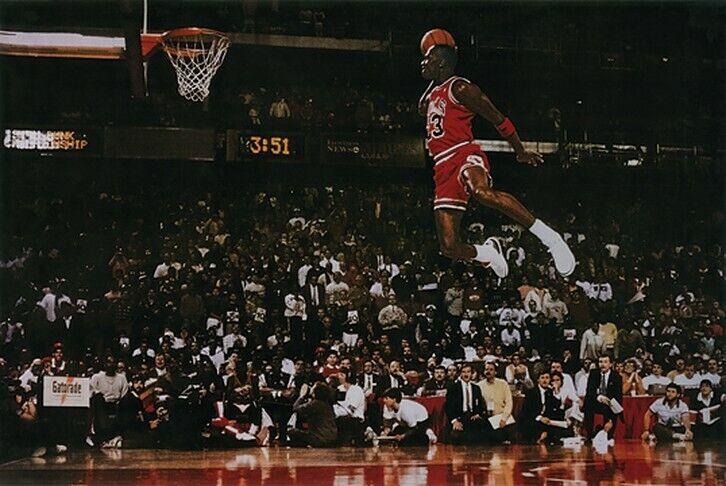 Michael Jordan Slam Dunk Poster Free Throw Contest Basketbal
