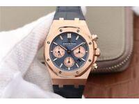 Audemars Piguet Royal Oak Chronograph Rose Gold Blue Dial