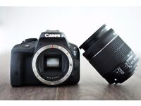 Canon DSLR Camera 100d SL1 As New Boxed 18-55mm lens