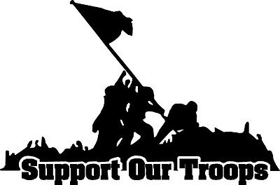 Support Our Troops America Patriotic USA Car Window Vinyl Bumper Sticker Decal  (Support Our Troops Decals)
