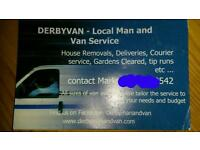 Derbymanandvan - man and van/ house removals
