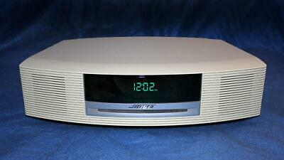 MINT Bose Wave Radio iPhone/iPod CD Player/Alarm Clock Platinum White AWRCC2