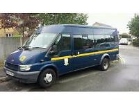 Ford transit twin wheel jumbo minibus 125bhp