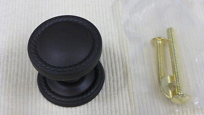 OIL RUBBED BRONZE ROPE DESIGN CABINET KNOB W/ BACKPLATE