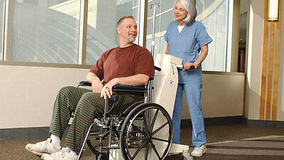 DANE ARJO HUNTLEIGH COMMERCIAL ELECTRIC POWER WHEELCHAIR MOVER NEW BATTERY TESTD