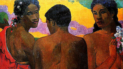 Three Tahitians   by Paul Gauguin   Giclee Canvas Print Repro