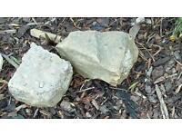 12 x Good size gaden rocks Sand & Yorkshire stones IDEAL ROCKERY