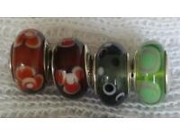 Genuine Pandora murano glass beads