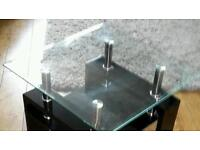 Large and small glass tables