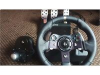 Logitech G920 Driving Force Steering Wheel + Shifter