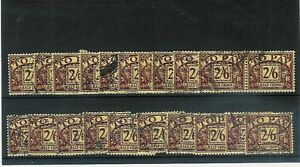 GB-KE8-1936-POSTAGE-DUE-2-6-Fine-Used-CDS-SGD26-20-stamps-Cat-value-240