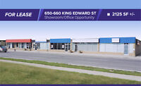 FOR LEASE 650-660 King Edward Street 2125 SF+/- Office/Showroom