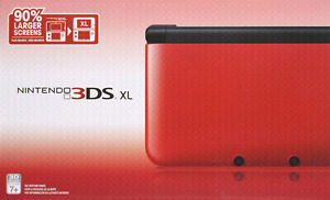 Red Nintendo 3DSXL with 2 Games