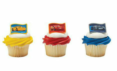 Cars Cupcake (CARS 3 NEXT-GEN RACERS CUPCAKE RINGS CAKE DECORATIONS PARTY FAVORS 12 PC)