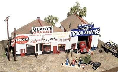 JL Innovative  (HO-Scale) #481 O'Lary's Garage - Wooden Kit