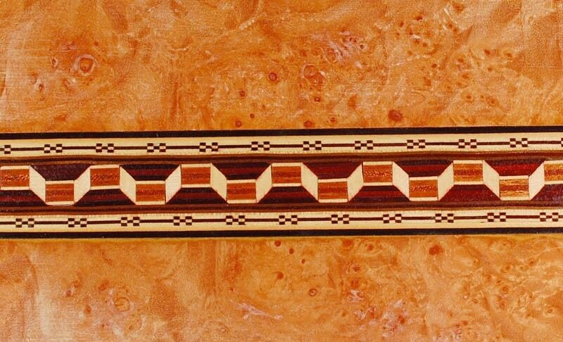 Exquisite Rarely Seen  Buffard Frères Marquetry Banding Strips (Inlay-36)