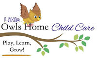 Little Owls Home Child Care - West End - September Openings!!