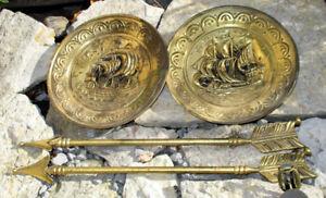 Brassy Ships Plates   Nautical Boats