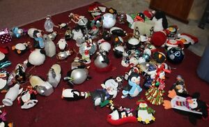 Christmas Tree Decorations Penguins Golore  $.50 to $2.50 Each
