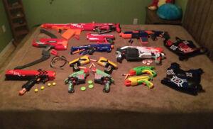 Nerf Guns collection.