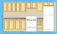 Custom Kitchen Cabinets 12feet $1050 - Pre assembled Top Quality