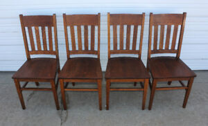 WANTED: Quarter Sawn White Oak Mission style Chairs