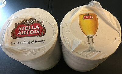 STELLA ARTOIS Cardboard Drip Beer Mats x 100 - New and Wrapped