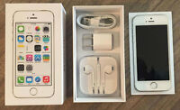 Like new, MINT Silver Apple iPhone 5s - 16GB - Videotron -