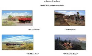 RCMP 125th Anniversary Set of Four By James Lumbers only $250