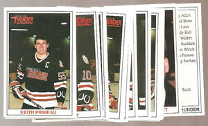1989-90 NIAGARA FALLS THUNDER HOCKEY CARD SET