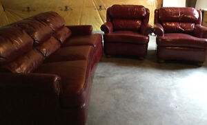 Leather Couch & Chairs