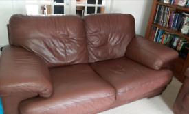 3 & 2 seater leather sofa