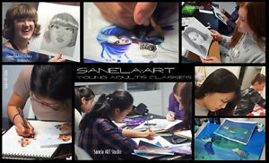 Young Adults Art Classes (12-17y) Kitchener / Waterloo Kitchener Area image 1
