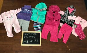 Lots de vêtements- bébé fille